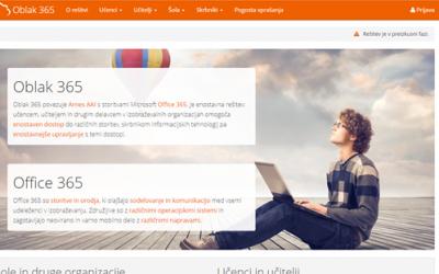 Prijava z AAI računom v Oblak 365 za Office 365